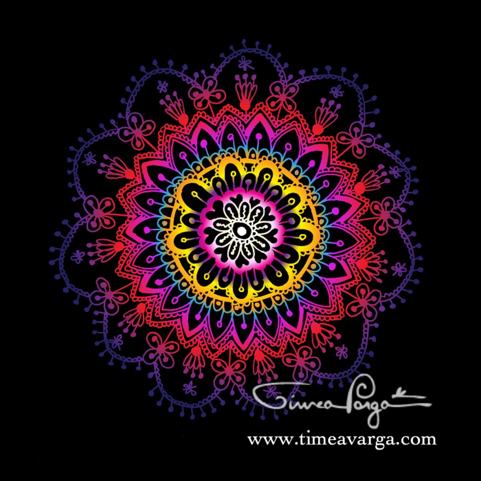 """Live with passion"" Mandala"